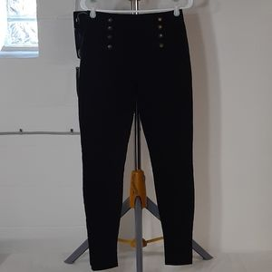 High Waisted Multi-Button Jeans
